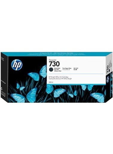 HP 730 Siyah Orijinal Mürekkep Kartuş P2V71A Siyah